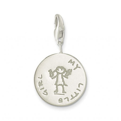 My Little Girl Charm - Sterling Silver
