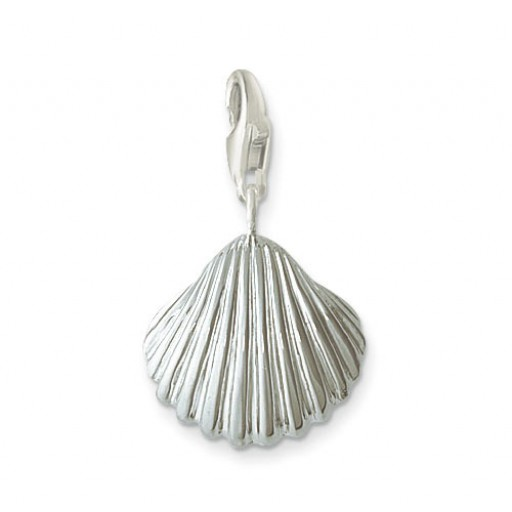Scallop Charm - Sterling Silver