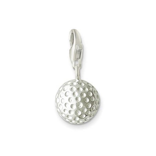 Golf Ball Charm - Sterling Silver