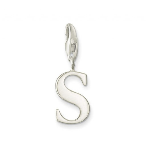 S Letter Charm - Sterling Silver