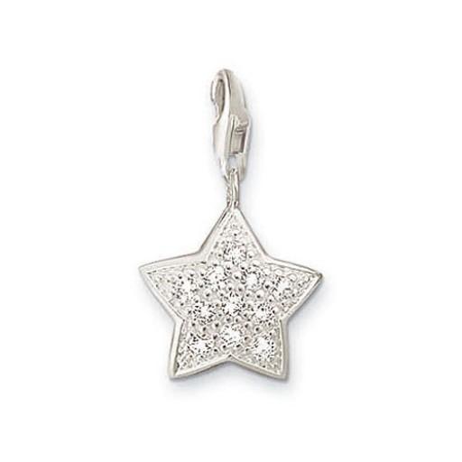 Glitter Star Charm - Sterling Silver