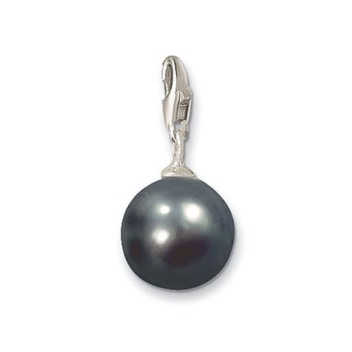 Pearl Dark Grey Pendant Charm