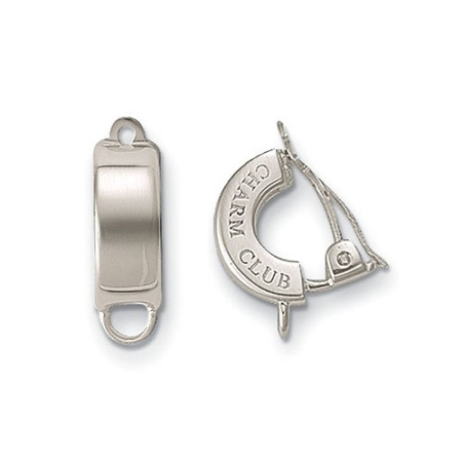 Charm Clip Earrings - Sterling Silver