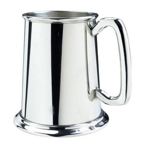 Salisbury Glass Bottom Tankard (Polished finish shown)