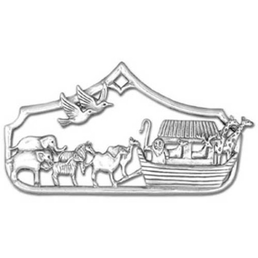 Sterling Silver Noah's Ark Ornament