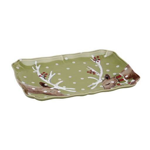 Casafina Deer Friends Rectangular Platter - Available from SilverGallery.com
