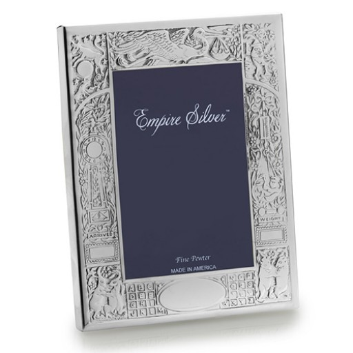 Empire Pewter Birth Record Frame - Engrave yours at SilverGallery.com