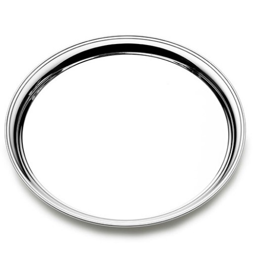 """Empire Round Sterling Silver Presentation Tray - 11"""" - Engrave today at SilverGallery.com!"""