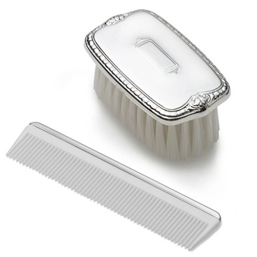 Empire Pewter Shield Boy's Comb & Brush Military Set