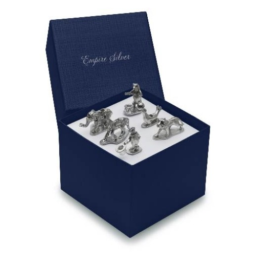 Empire Pewter Birthday Circus Candleholders - Set of 6
