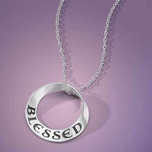 Sterling Silver Mobius Necklace - Blessed
