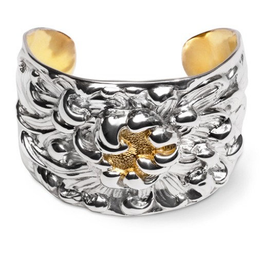 Galmer Touch of Gold Peony Cuff