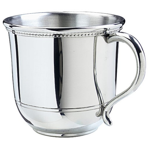 Salisbury Images Pewter Baby Cup - Engrave yours at SilverGallery.com