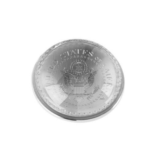 Glass Dome Paperweight - Custom Logo Medallion