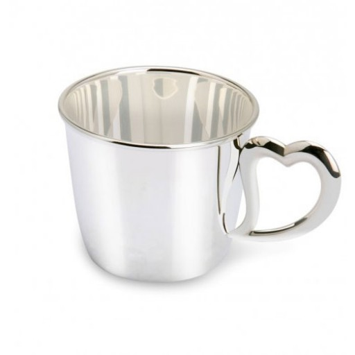 Heart Handle Sterling Silver Baby Cup
