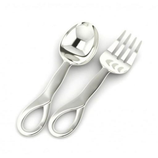 Sterling Silver Sophie Baby Spoon & Fork Set