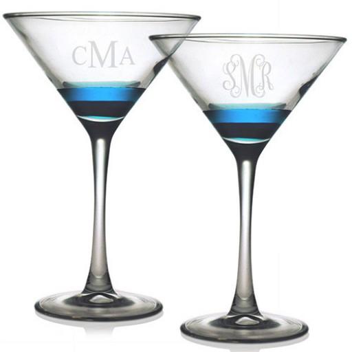 Martini Glasses - Monogram (Set of 4)