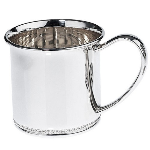 Lunt Beaded Sterling Silver Baby Cup