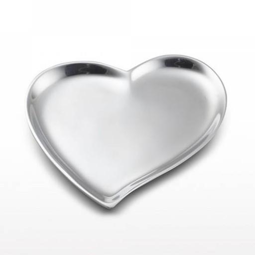 Nima Oberoi Lunares Cupid's Heart Dish - Silver - Engrave it at SilverGallery.com!
