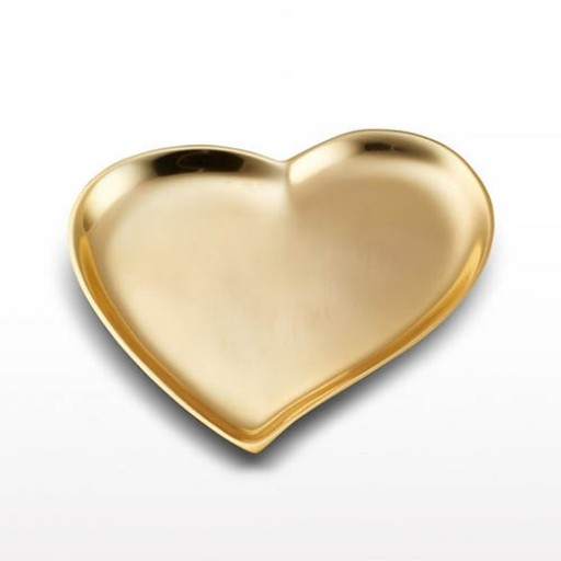 Lunares Cupid's Heart Dish - Gold - Available from SilverGallery.com