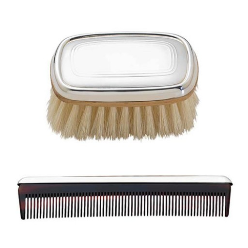 Lunt Sterling Silver Gallery Boy's Brush & Comb Set - Engrave it at SilverGallery.com