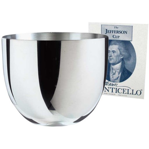 Salisbury Monticello Jefferson Pewter Cups