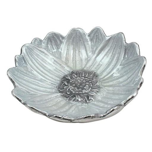Mariposa Lily Sauce Dish - White