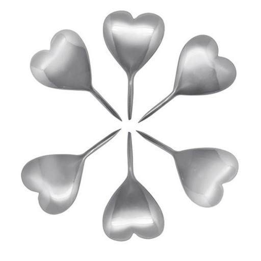 Mariposa Heart Birthday Candle Holders - Set of 6 - Available from SilverGallery.com