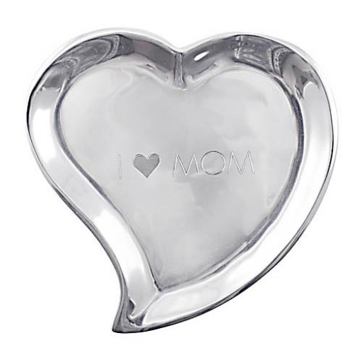 Mariposa Heart Canape Plate - I Heart Mom - Available from SilverGallery.com