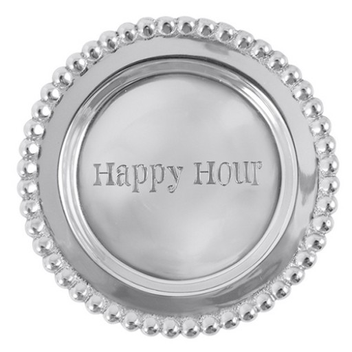 Mariposa Beaded Wine Coaster - Happy Hour - Available from SilverGallery.com!