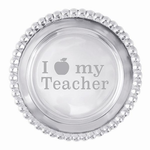 Mariposa Beaded Wine Plate - I Apple My Teacher