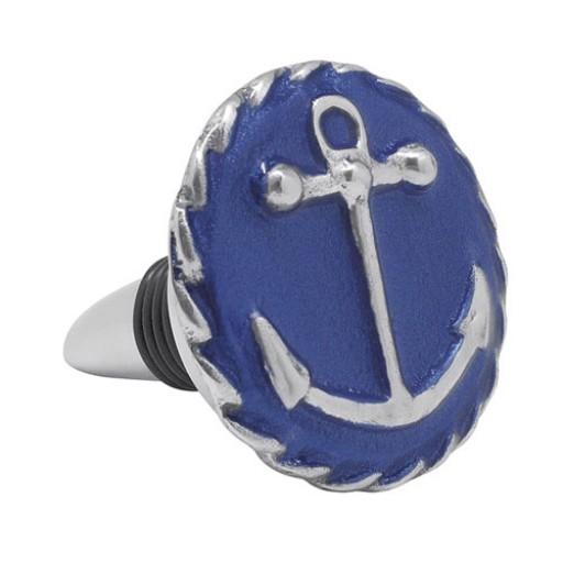Mariposa Anchor Wine Bottle Stopper - Cobalt Blue