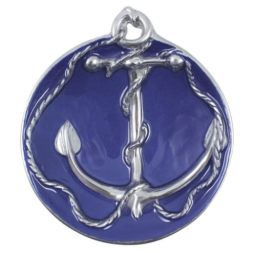 Mariposa Anchor Sauce Dish - Cobalt Blue - Available from SilverGallery.com