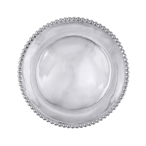 Mariposa String of Pearls Serving Tray - Engrave it at SilverGallery.com