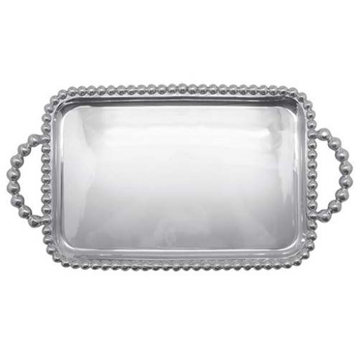 Mariposa String of Pearls Small Service Tray - Engrave it at SilverGallery.com!