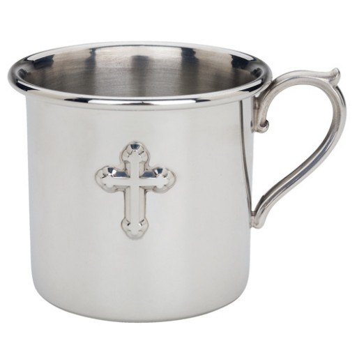 Reed & Barton Cross Pewter Baby Cup
