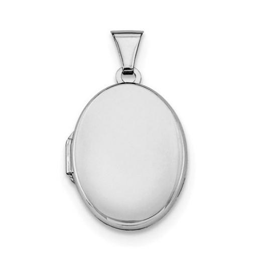 2-Photo Sterling Silver Oval Engravable Locket - Engrave Yours at SilverGallery.com
