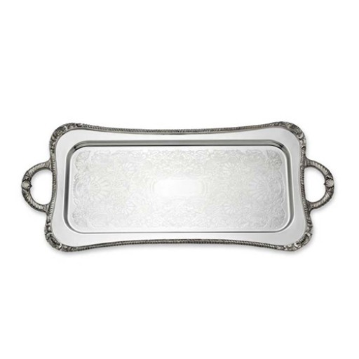Reed & Barton Shell & Gadroon Cocktail Tray w/Handles