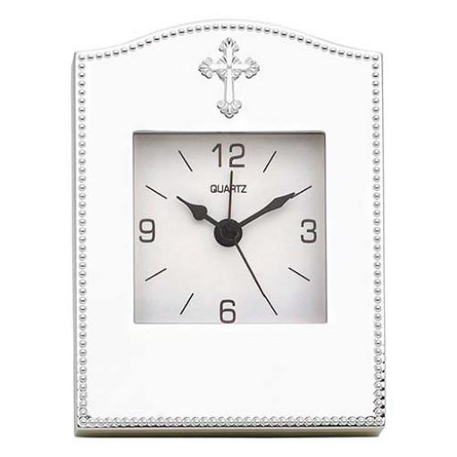 Reed & Barton Abbey Cross Clock - Engrave it at SilverGallery.com
