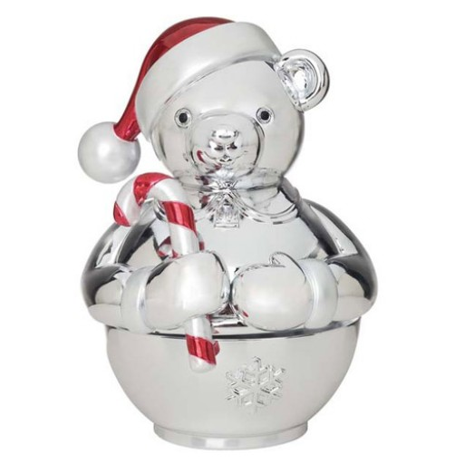 """Reed and Barton Revolving Teddy Bear Musical """"Wish You A Merry Christmas"""""""