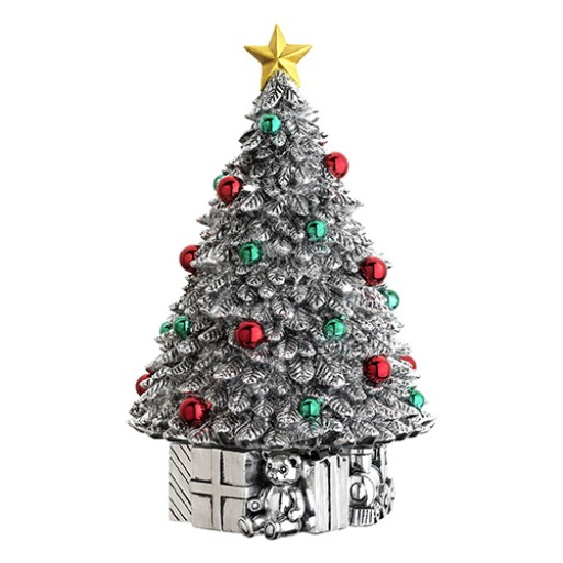 """Reed & Barton Revolving Classic Christmas Tree Musical - Plays """"Oh Tannenbaum"""" - Available from SilverGallery.com"""