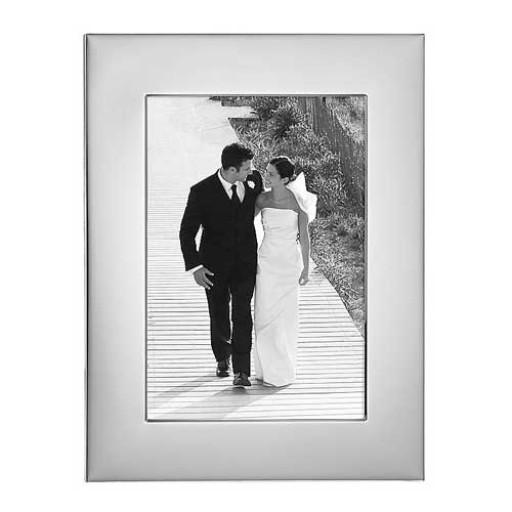 Reed & Barton Silverplate Wide Border Frame - 4 x 6
