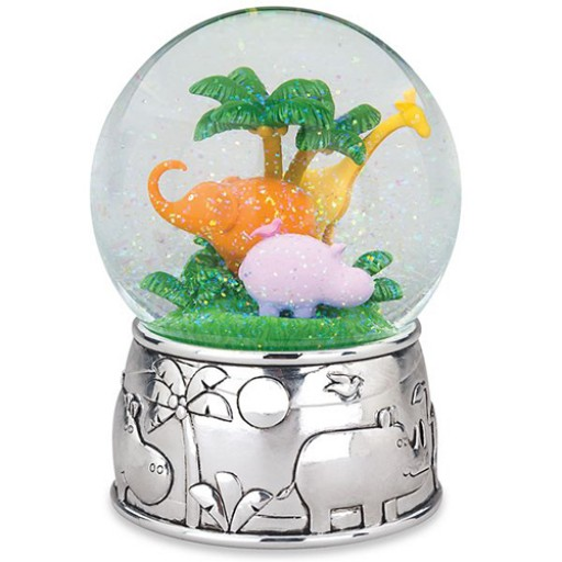 Reed & Barton Jungle Parade Musical Snow Globe - Available from SilverGallery.com