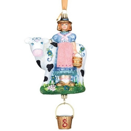 Reed & Barton Eight Maids A-Milking Ornament