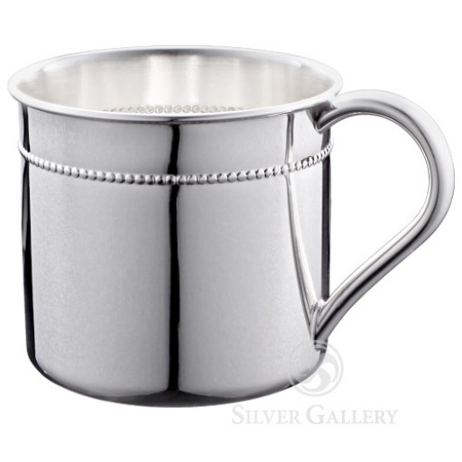 Reed & Barton Bristol Beaded Sterling Baby Cup