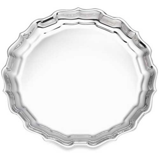 """Reed & Barton Sterling Silver Classic Chippendale Tray - 12"""""""