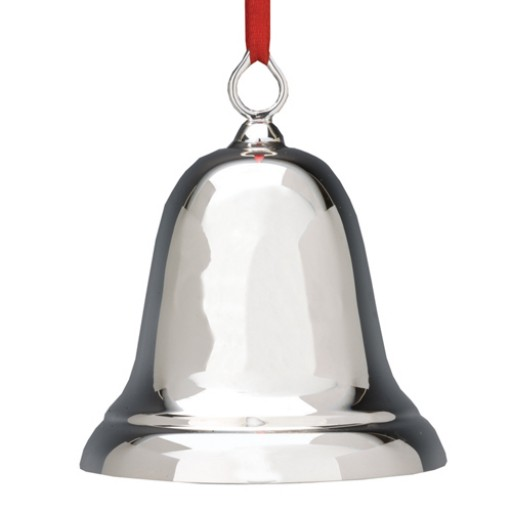 Reed & Barton Sterling Plain Christmas Bell Ornament