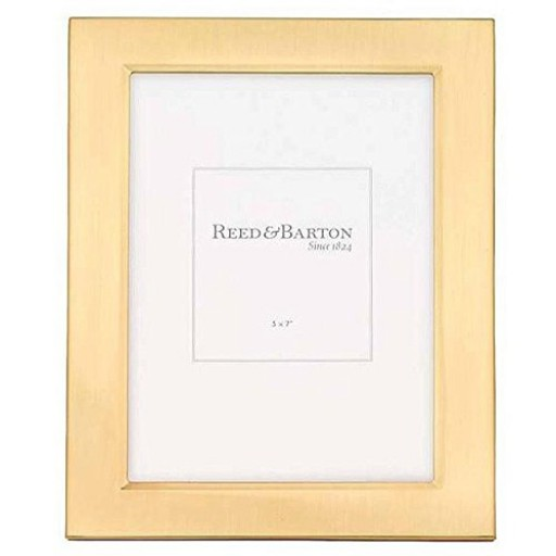 Reed & Barton Gold Plated Classic Channel Frame - 5 x 7 - Engrave it at SilverGallery.com