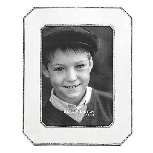 Reed & Barton Heritage Pewter Chamfered Edge Frame - 5 x 7 - Engrave it at SilverGallery.com
