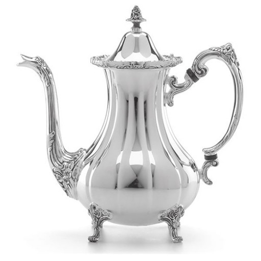 Reed & Barton Burgundy Pattern Footed Silverplated Coffee Pot - Available at SilverGallery.com